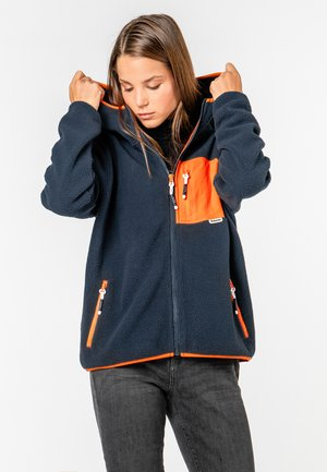 FLEECEJACKE MIT BRUSTTASCHE - Fleece jacket - dark-blue