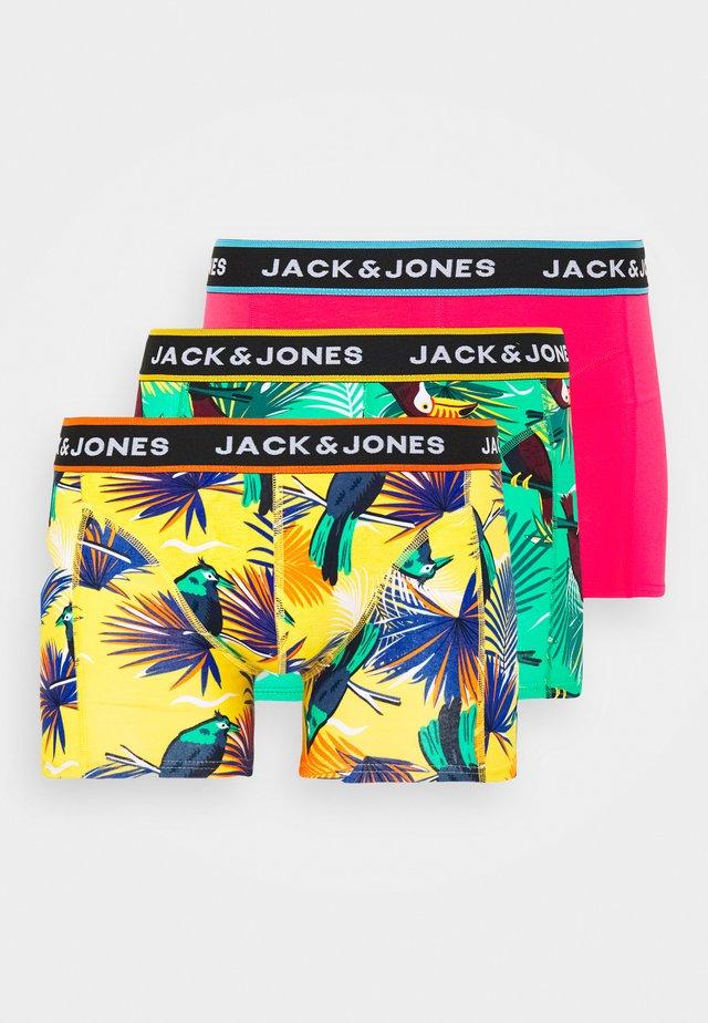 JACSUMMER ANIMALS TRUNKS 3 PACK - Boxerky - diva pink/blanery/yolk yellow