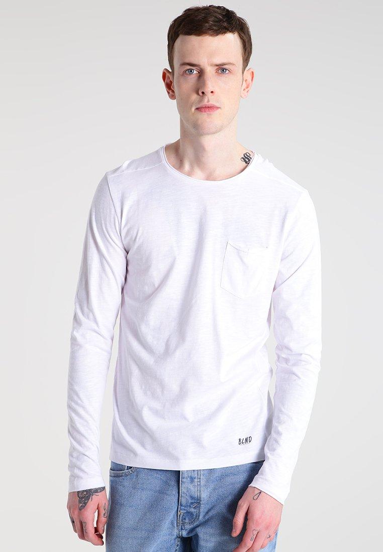Blend - Bluzka z długim rękawem - white