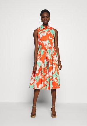GATHERED DRESS - Day dress - orange