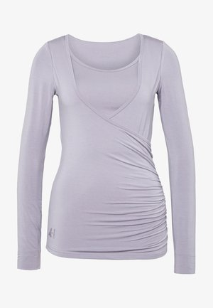 Long sleeved top - pearl grey