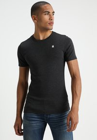 G-Star - DAPLIN - Print T-shirt - black heather - 0