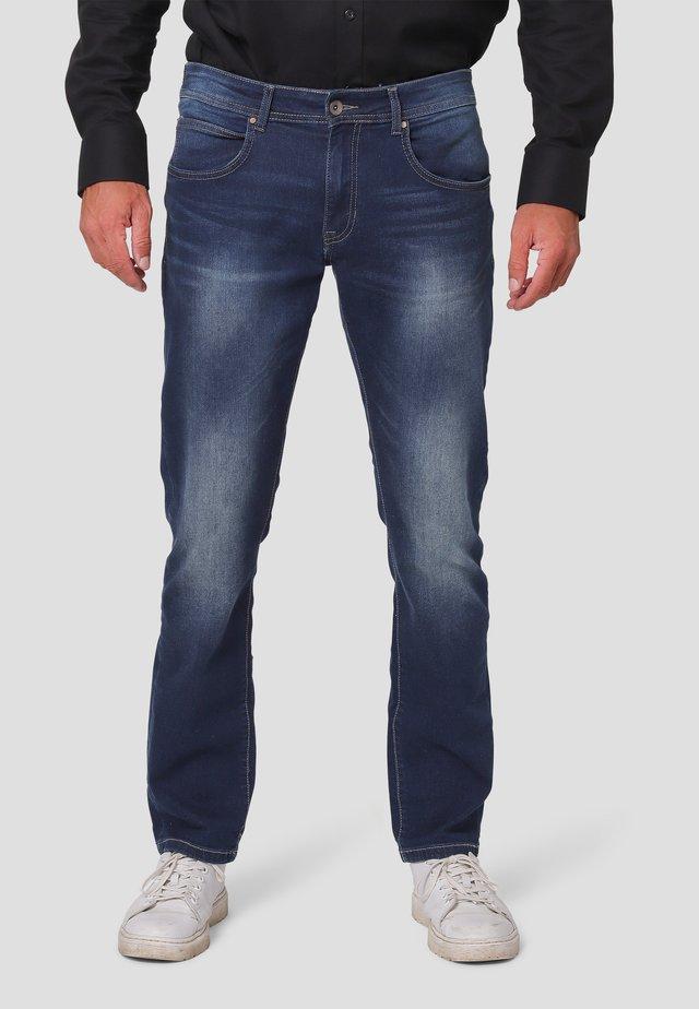 Jeans straight leg - dark blue wash