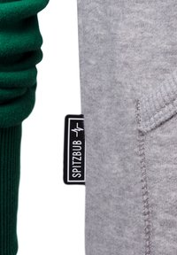 Spitzbub - SPITZBUB HOODED ZIP OLIVER - Zip-up hoodie - grau/grün - 4