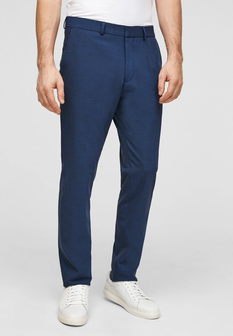 s.Oliver BLACK LABEL - MIT HYPERSTRETCH - Suit trousers - blue