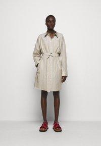 3.1 Phillip Lim - STRIPED BUTTON UP SHIRT DRESS - Shirt dress - tan - 1