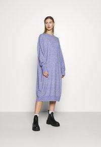 Monki - Jumper dress - blue solid - 0