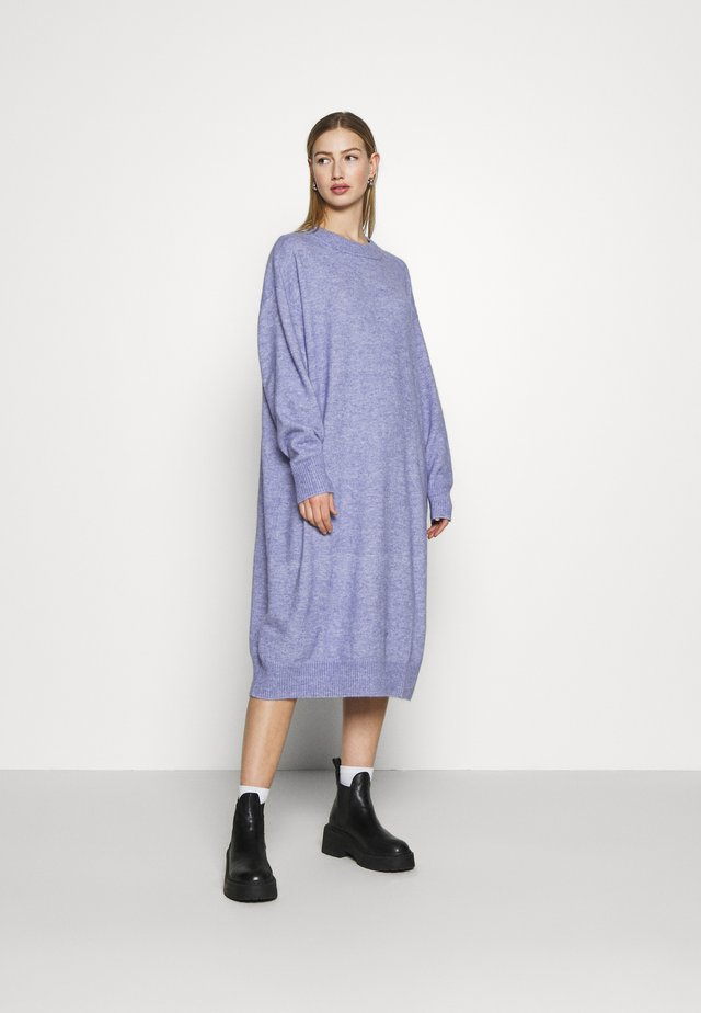 FELIA DRESS - Gebreide jurk - blue solid