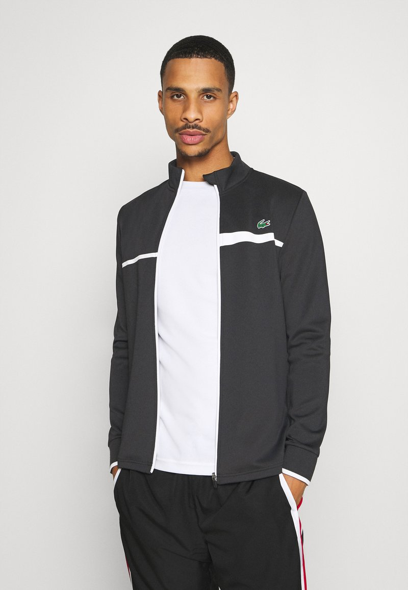 Lacoste Sport - TENNIS JACKET - Trainingsvest - black/white