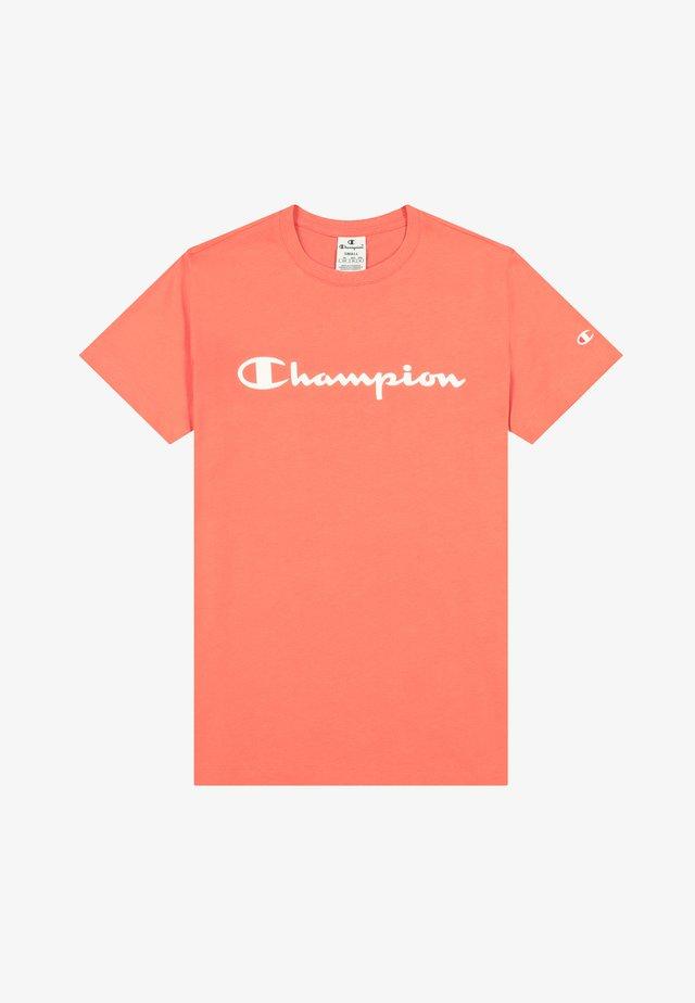 T-shirt z nadrukiem - coral
