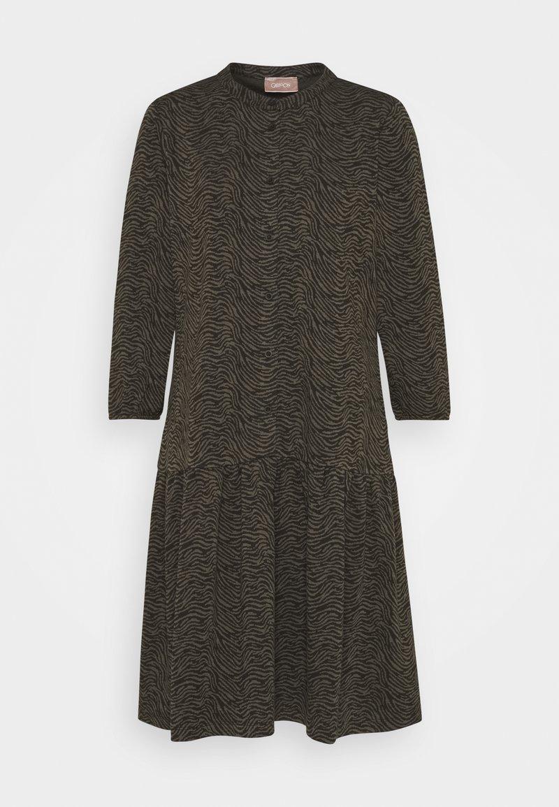 Cartoon - Jersey dress - khaki/black