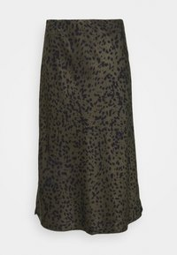 OLANDA LEO - A-line skirt - blended oliv