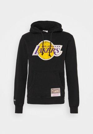 NBA LA LAKERS WORN LOGO WORDMARK HOODY - Club wear - black