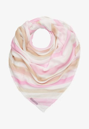 Šátek - rose/white/brown
