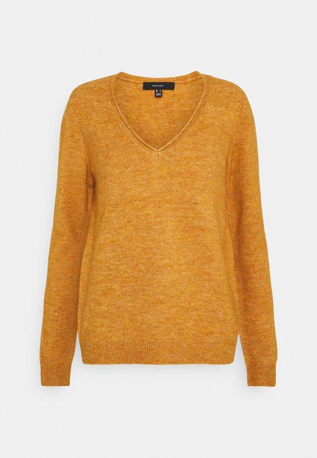 VMSIMONE V-NECK BLOUSE BOO - Pullover - buckthorn brown