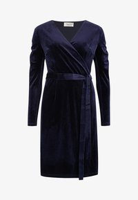 Sugarhill Brighton - WRAP DRESS BRONWYN RUCHED DETAIL - Day dress - navy - 4