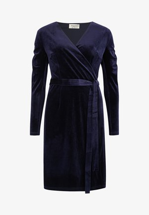 WRAP DRESS BRONWYN RUCHED DETAIL - Day dress - navy