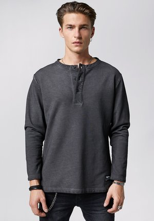 ZACH - Long sleeved top - vintage stone grey