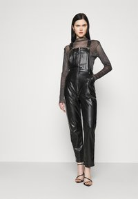 Missguided - DUNGAREE - Overal - black - 0