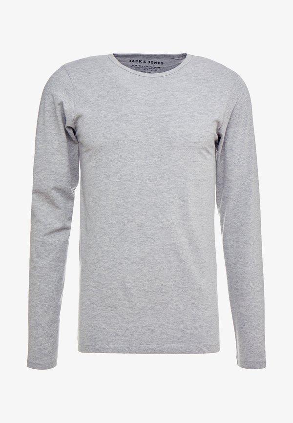 Jack & Jones JJBASIC - Bluzka z długim rękawem - light grey/jasnoszary melanż Odzież Męska KCHA