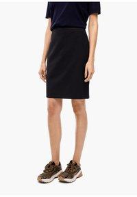 s.Oliver BLACK LABEL - Pencil skirt - navy - 0
