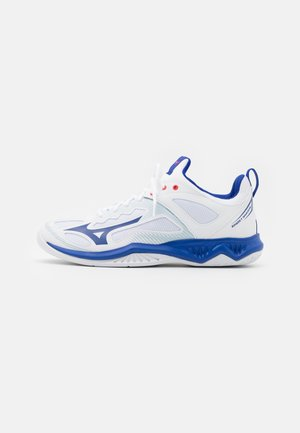 GHOST SHADOW - Handball shoes - white/reflex blue/diva pink