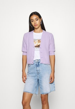 PUFFY CARDIGAN - Strickjacke - lilac