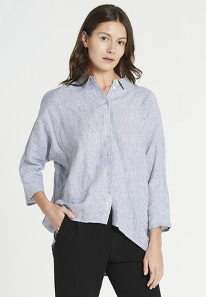 Button-down blouse - light blue