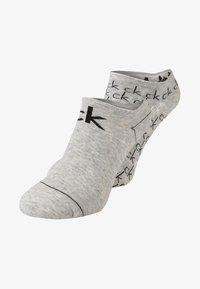Calvin Klein Underwear - REPEAT LOGO SNEAKER 2 PACK - Strømper - oxford - 0