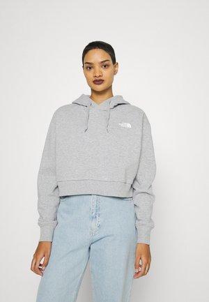 TREND CROP HOODIE  - Sweatshirt - light grey heather