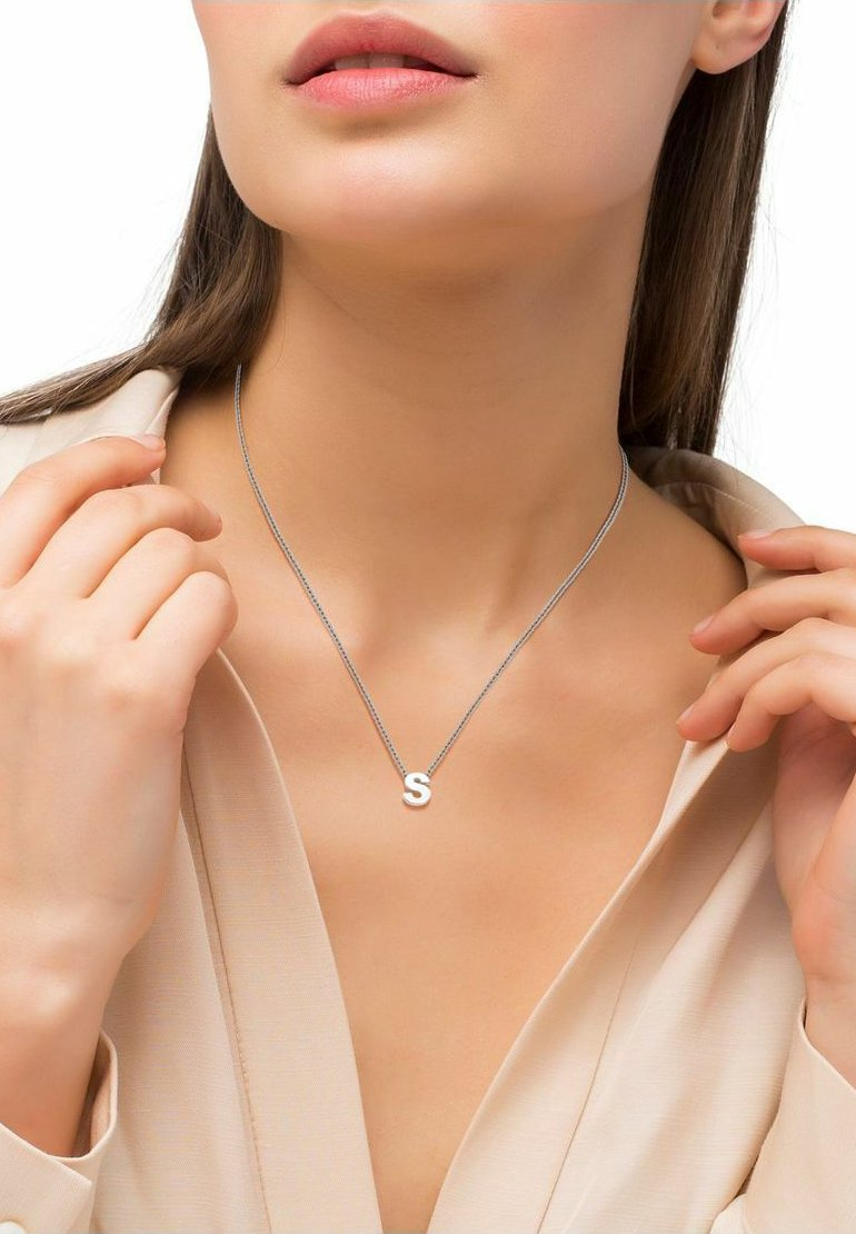 amor - LETTER V - Necklace - silber
