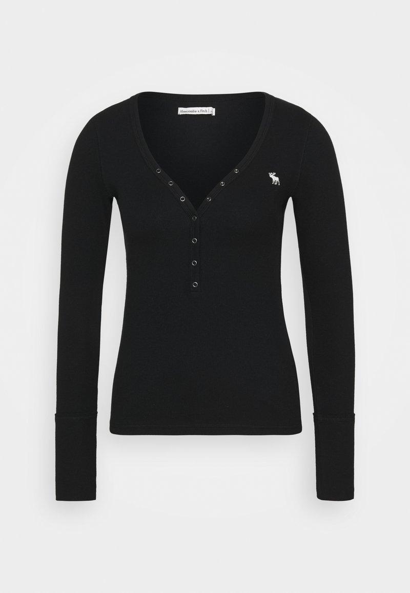 Abercrombie & Fitch - Top sdlouhým rukávem - black