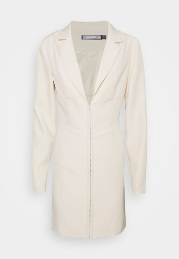 CORSET DETAIL BLAZER DRESS - Shift dress - stone