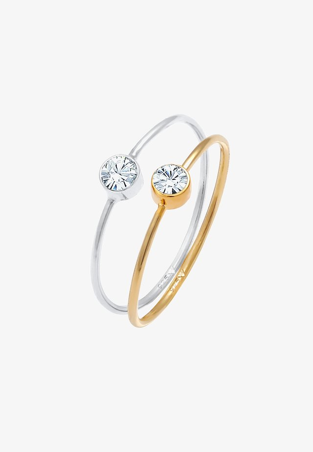 2ER SET - Ring - silber