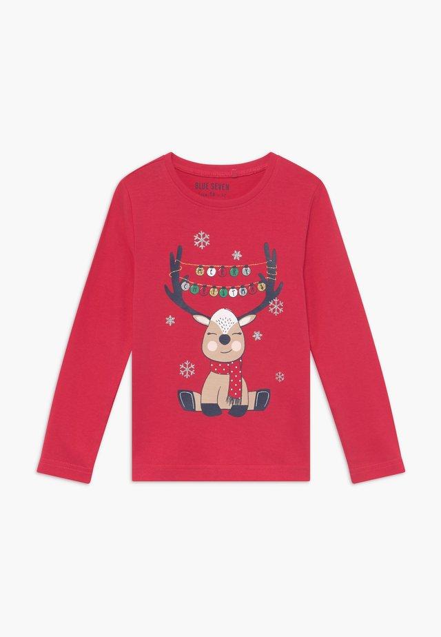 KIDS CHRISTMAS REINDEER - T-shirt à manches longues - hochrot