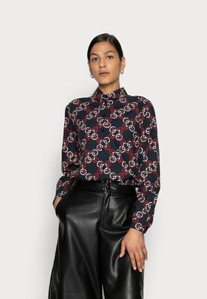 Button-down blouse - dunkelblau