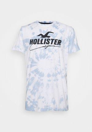 T-shirt imprimé - white spiral wash