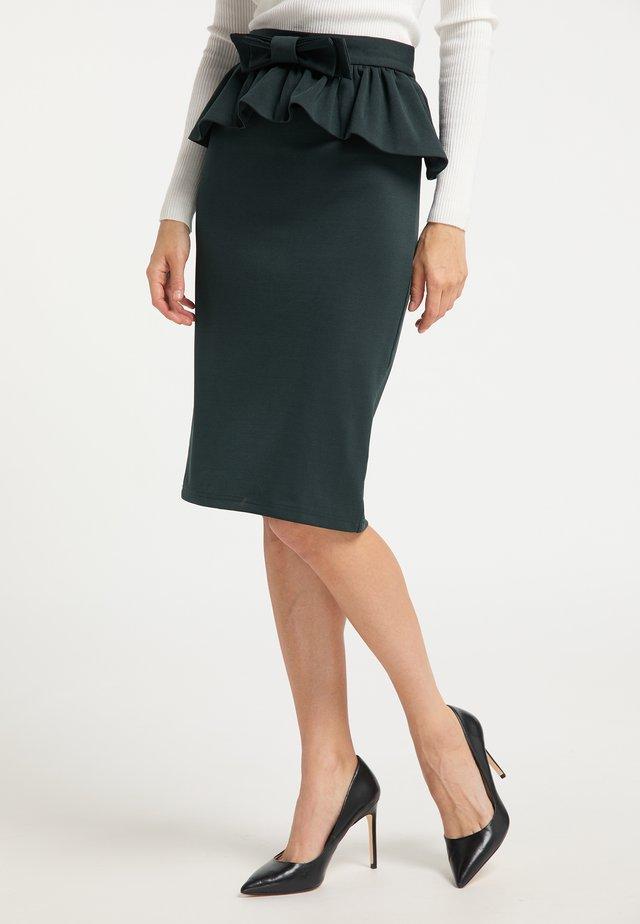 Pencil skirt - smaragd