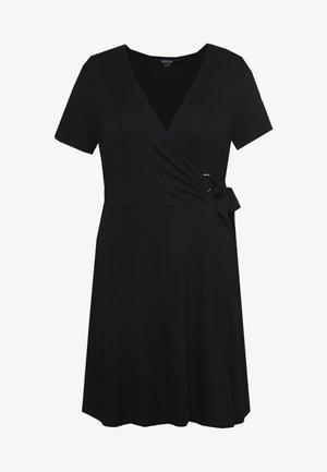 WRAP RING SKATER - Day dress - black