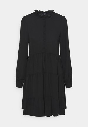 VMZIGGA FRILL - Shirt dress - black