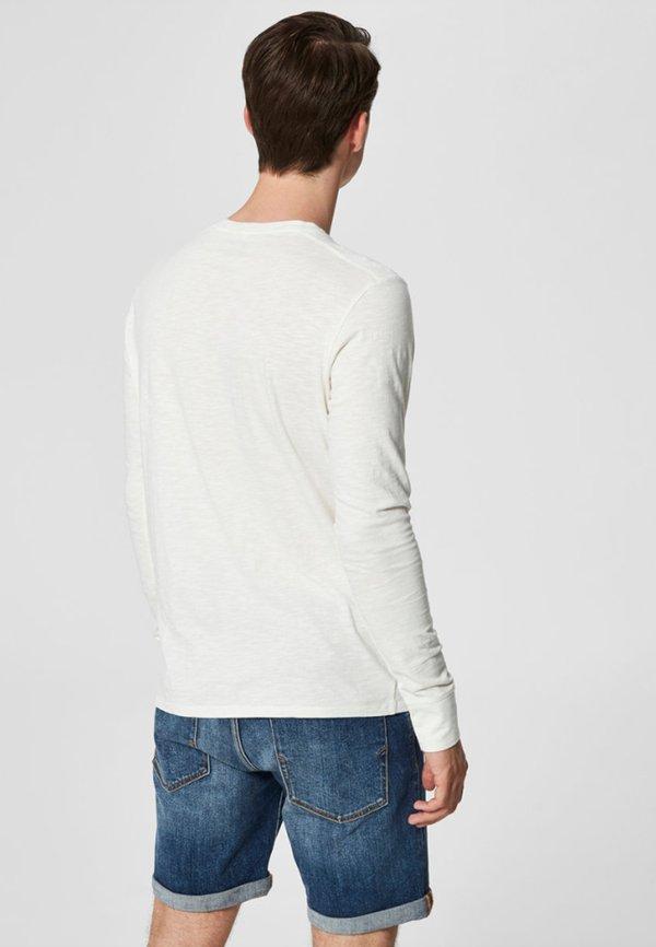Selected Homme Bluzka z długim rękawem - bone white/mleczny Odzież Męska UNEQ
