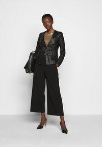 Pinko - BRADLEY JACKET - Leather jacket - black - 1