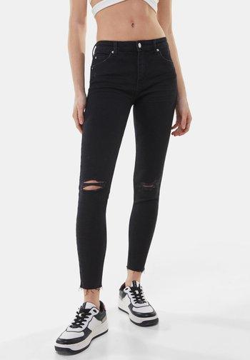 LOW WAIST PUSH UP - Jeans Skinny Fit - black