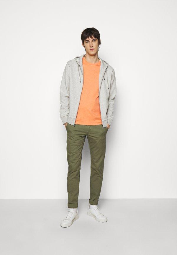Polo Ralph Lauren PIMA - T-shirt basic - true orange heath/pomarańczowy Odzież Męska MLWR