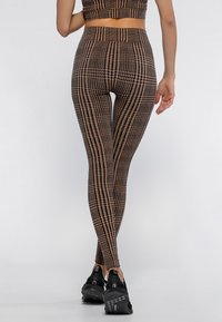 Heart and Soul - HOUNDSTOOTH  - Collant - black/camel - 2