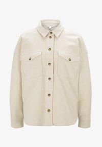 TOM TAILOR DENIM - Button-down blouse - soft creme beige - 7