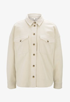 Button-down blouse - soft creme beige
