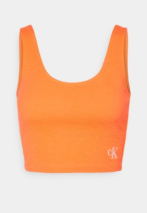 SLUB CROPPED STRAPPY - Top - shocking orange