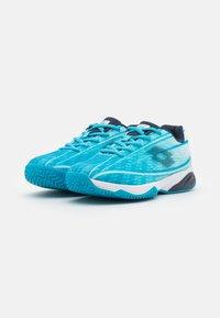 Lotto - MIRAGE 300 JR UNISEX - Zapatillas de tenis para todas las superficies - blue bay/navy blue/all white - 1