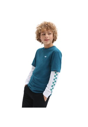 BY LONG CHECK TWOFER BOYS - Långärmad tröja - mottled blue, white